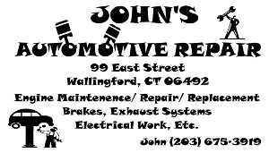 John's Automotive Business Card