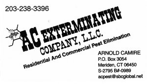 AC Exterminating Business Card