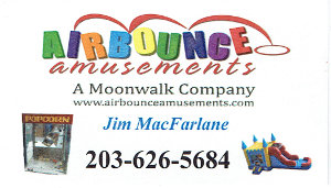 Airbounce Amusements Business Card