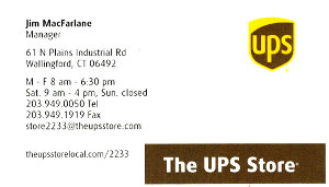 The UPS Store Business Card