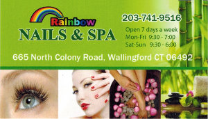 Rainbow Nail & Spa Business Card