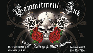 Commitment Ink Tattoo Business Card